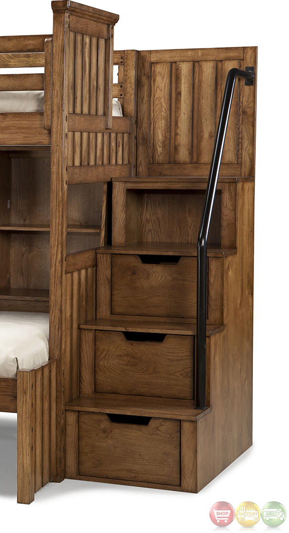 Timber Lodge Country Open Loft Frame Full Youth Bed