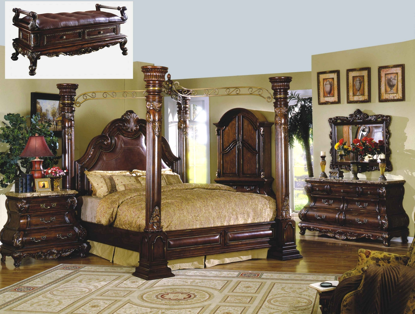 Queen Canopy Bedroom Sets
