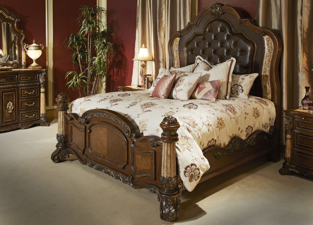Michael Amini Victoria Palace Bedroom Set W Panel Bed In
