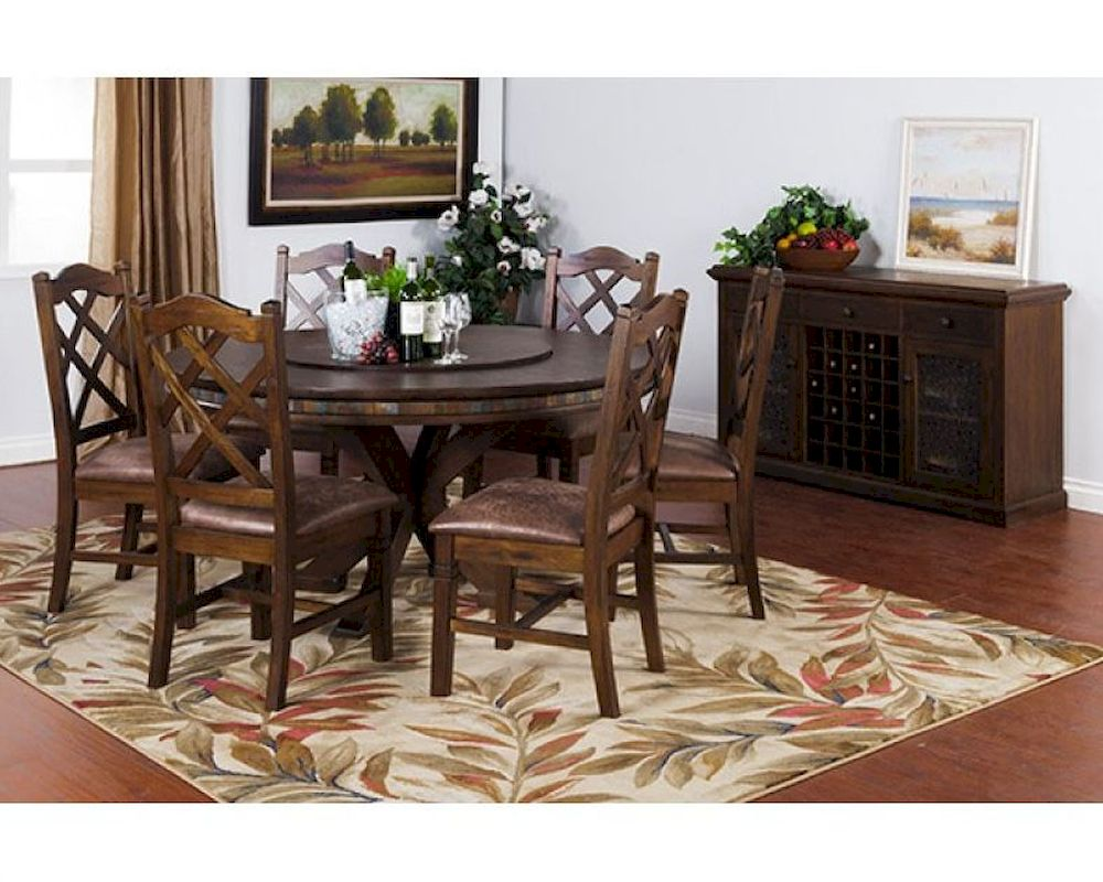 Dining Set W Lazy Susan Table Savannah By Sunny Designs