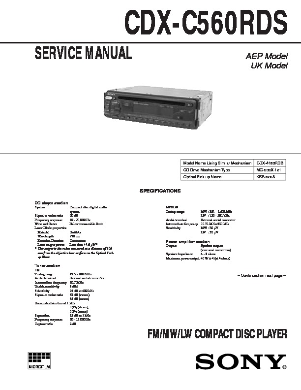 Contemporary Sony Cdx 4000x Wiring Diagram Composition - Schematic ...