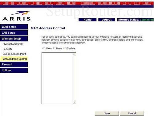 Address Arris Tm502g Mac