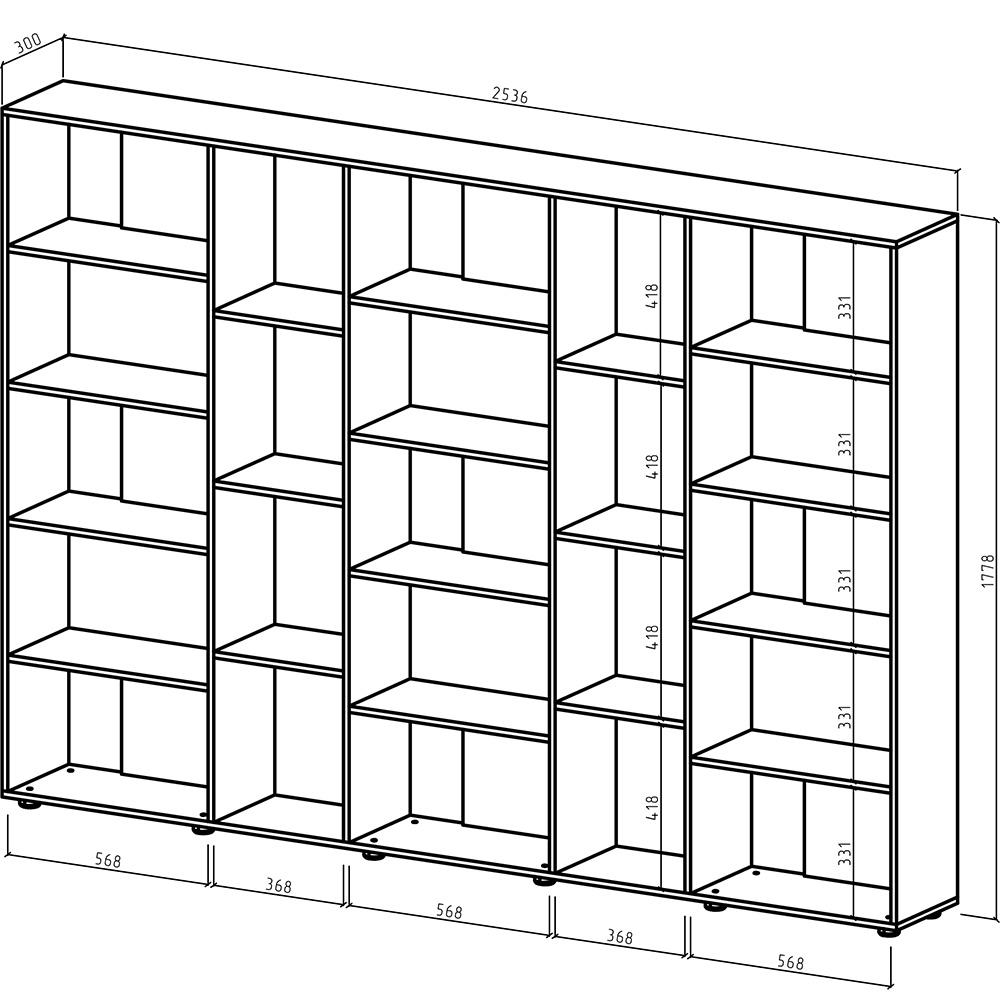 Un ejemplo de un dibujo de gabinete de madera.
