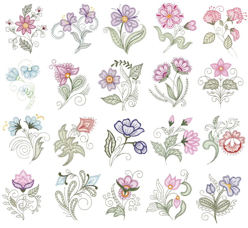 Floral Hand Embroidery Patterns