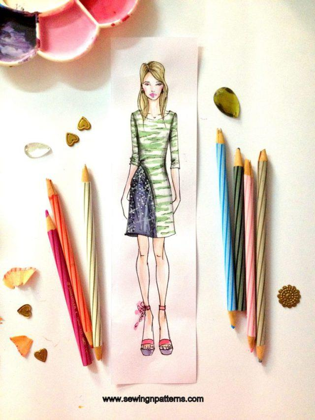 How to color fashion design sketches  quick and easy tutorial fashion design sketches I Fashion design for beginners I Fashion  illustration techniques I Fashion illustration templates