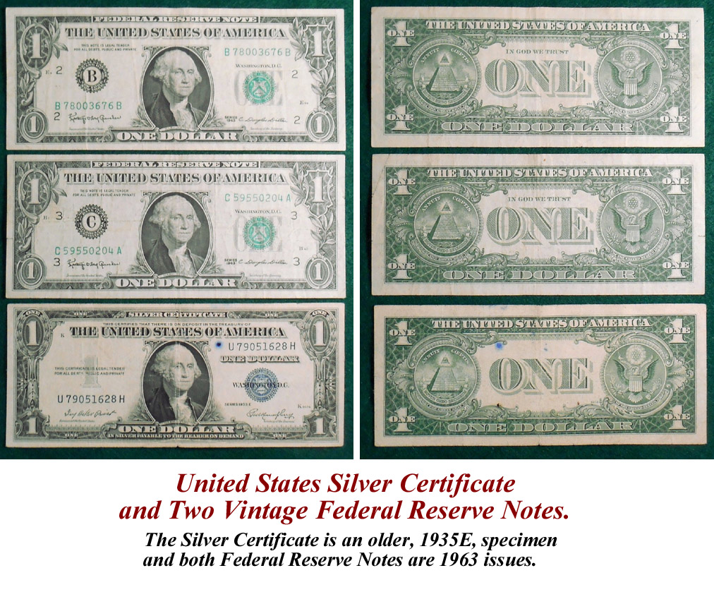 1957a Silver Certificate One Dollar