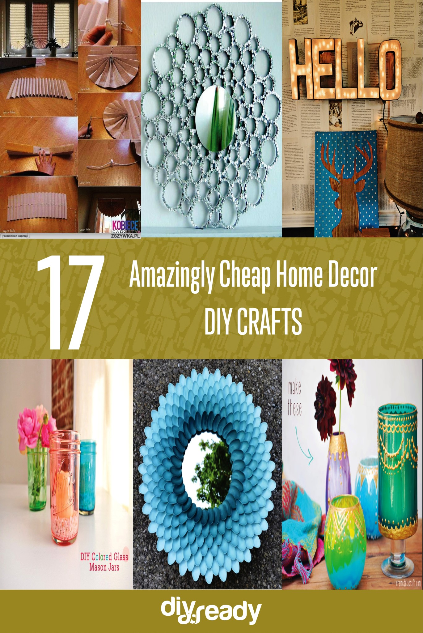 Best 17 Amazingly Cheap Home Decor Diy Crafts New Craft Works This Month