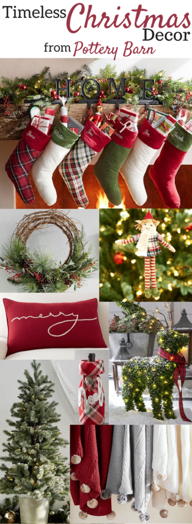 Best Timeless Christmas Decor From Pottery Barn • A Brick Home This Month