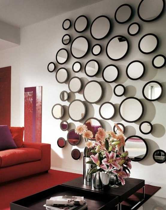 Best 28 Unique And Stunning Wall Mirror Designs For Living Room This Month