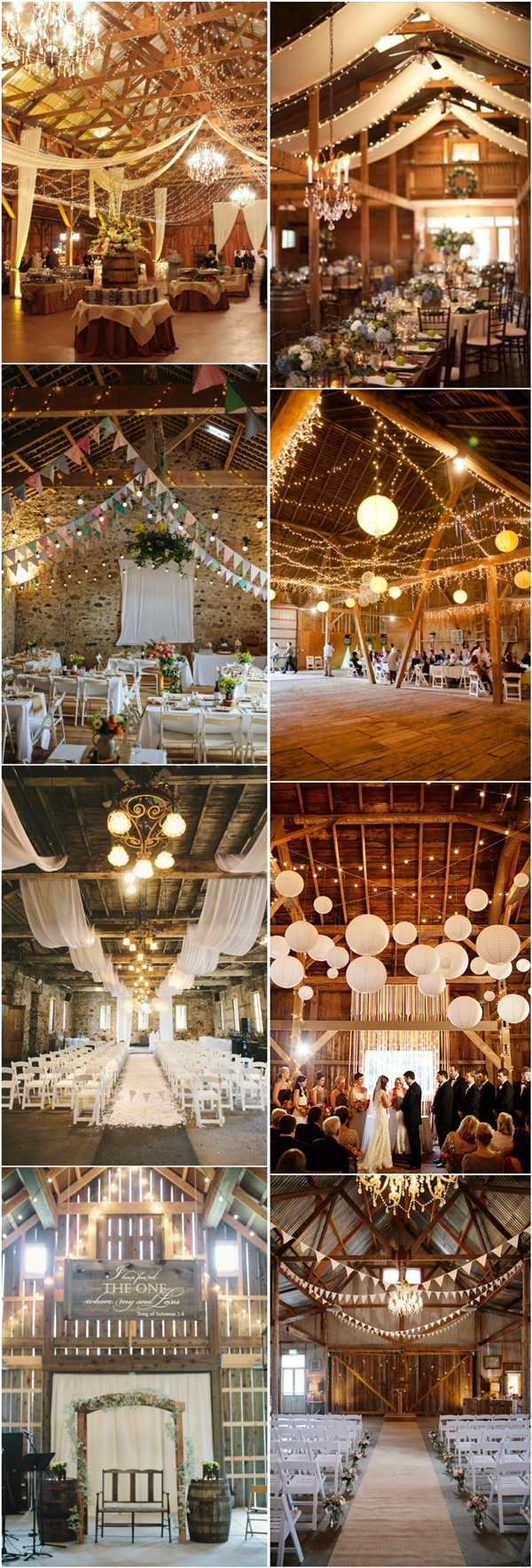 Best 30 Romantic Indoor Barn Wedding Decor Ideas With Lights This Month