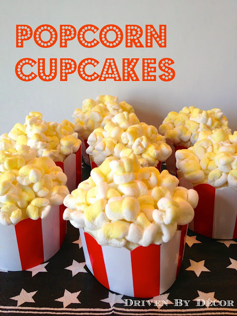 Best Movie Themed Birthday Party Popcorn Cupcakes Driven By This Month