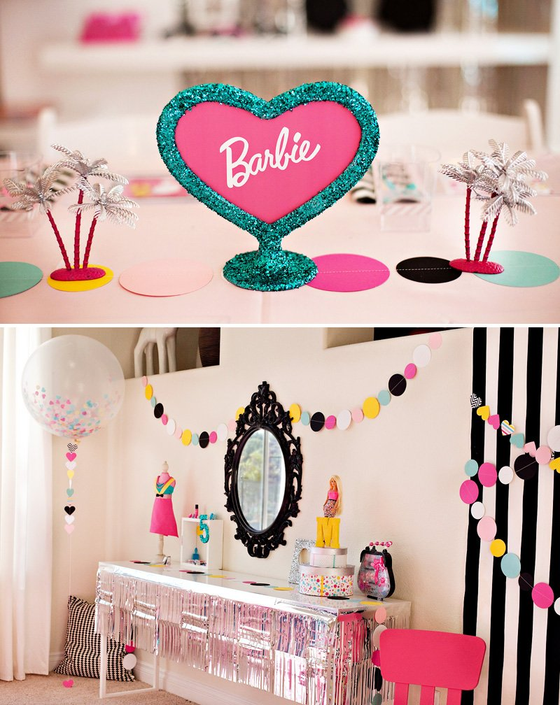 Best Colorful Modern Barbie Birthday Party Ideas Hostess This Month