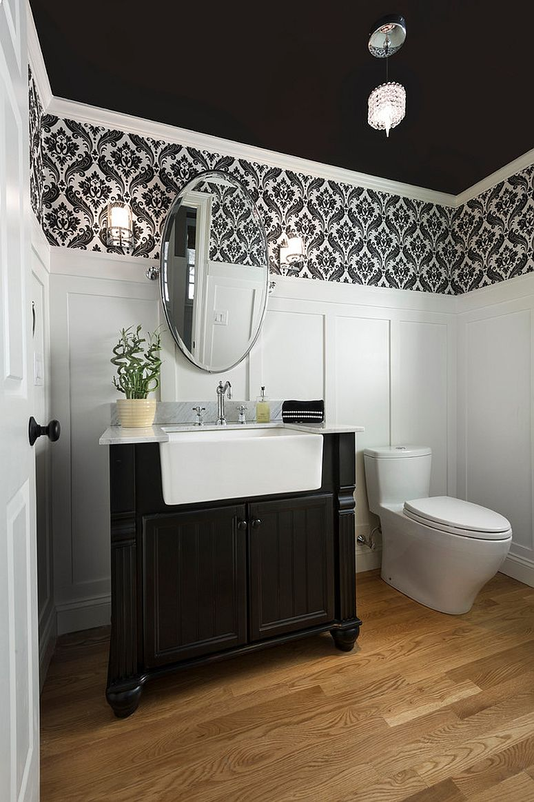 Best Always On Trend 20 Powder Rooms In Black And White This Month