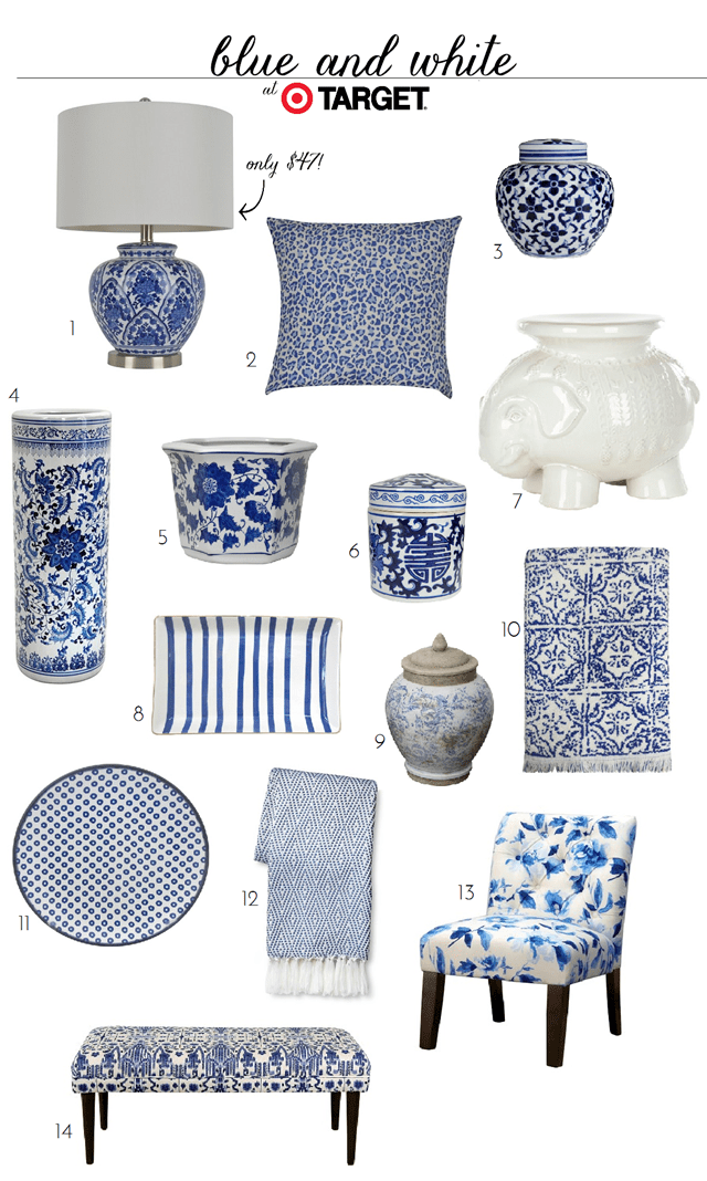 Best Blue And White Finds At Target Emily A Clark This Month