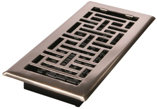 Best Decor Grates Ajh410 Nkl 4 Inch By 10 Inch Oriental Floor Register Brushed Nickel Registers This Month
