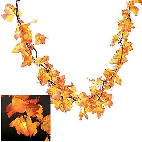 Best Autumn Leaves Lighted Garland Wreaths And Floral This Month