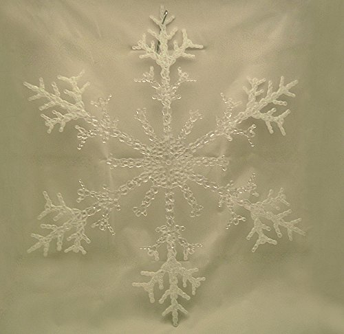 Best Snowflake With Sparkly Centre And White Tips Decorations This Month