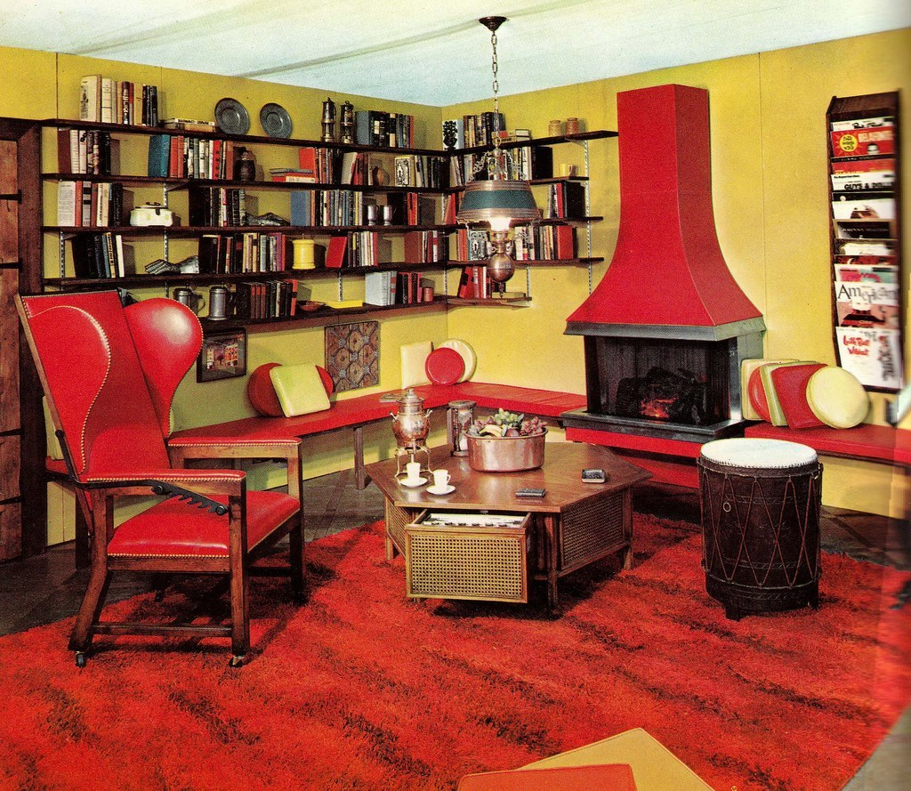 Best Groovy Interiors 1965 And 1974 Home Décor This Month