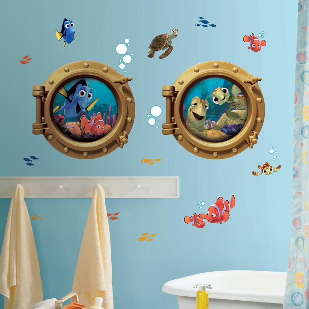 Best New Giant Finding Nemo Wall Decals Kids Bathroom Stickers This Month