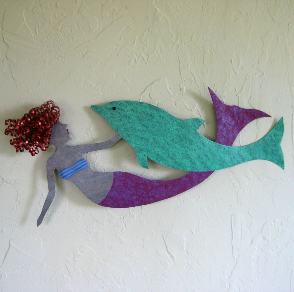 Best Hand Crafted Mermaid And Dolphin Wall Decor Sealife Art This Month