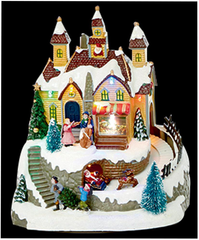 Best 21Cm Musical Animated Scene Xmas Decoration Christmas This Month