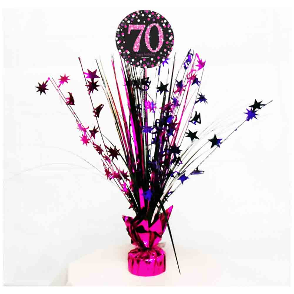 Best 70Th Birthday Spray Centrepiece Table Decoration Black This Month