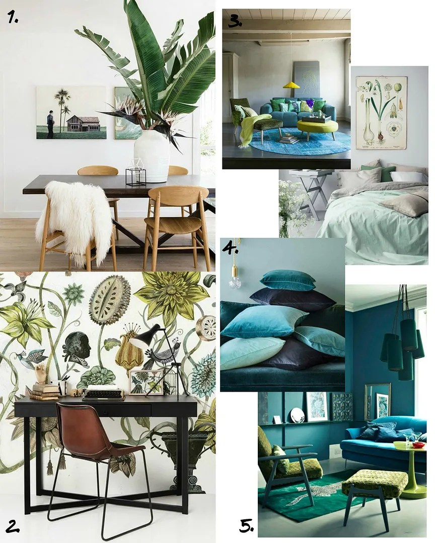 Best Botanical Interiors Inspiration Home Decor Trends 2016 This Month