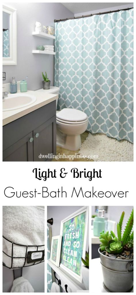 Best Light Bright Guest Bathroom Makeover The Reveal This Month