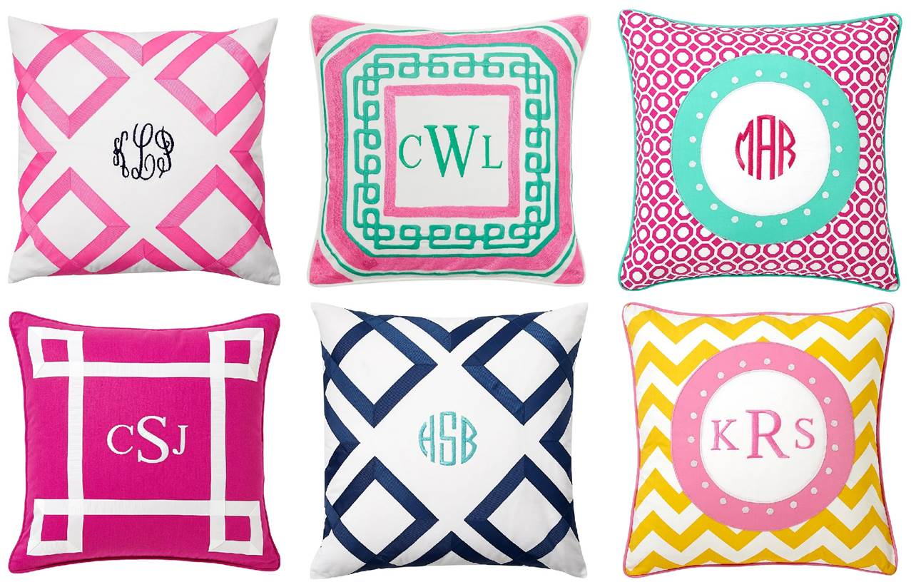 Best Preppy Decor 6 Chic Monogrammed Pillows Midtown Girl This Month