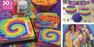 Best Tie Dye 60S Theme Party Supplies Party City This Month