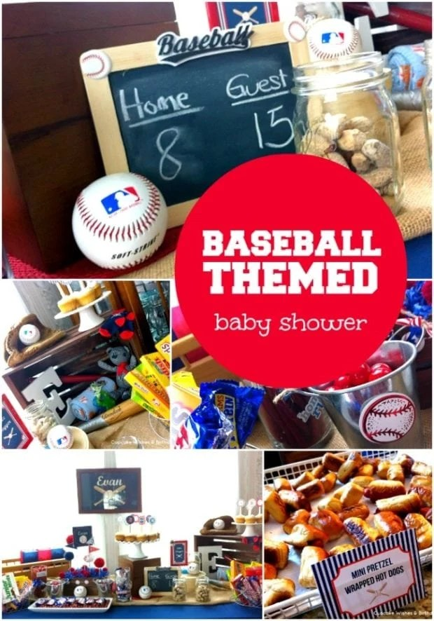 Best Baseball Themed Boy Baby Shower Ideas Spaceships And This Month