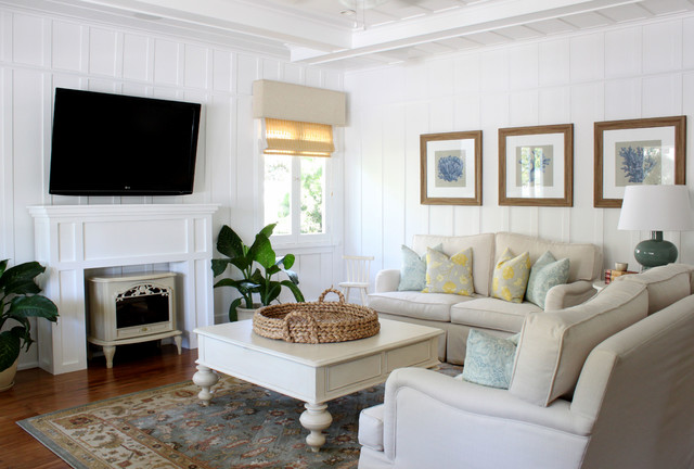 Best Beach Cottage Traditional Living Room Orange County This Month