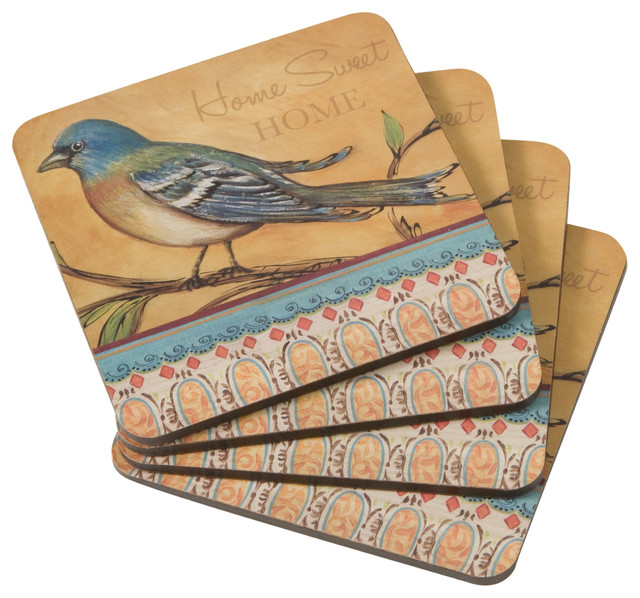 Best Cork Backed Decorative Drink Coasters Set Of 4 This Month