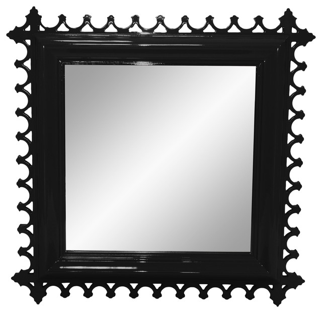 Best Newport Decorative Mirror Square Tricorn Black This Month