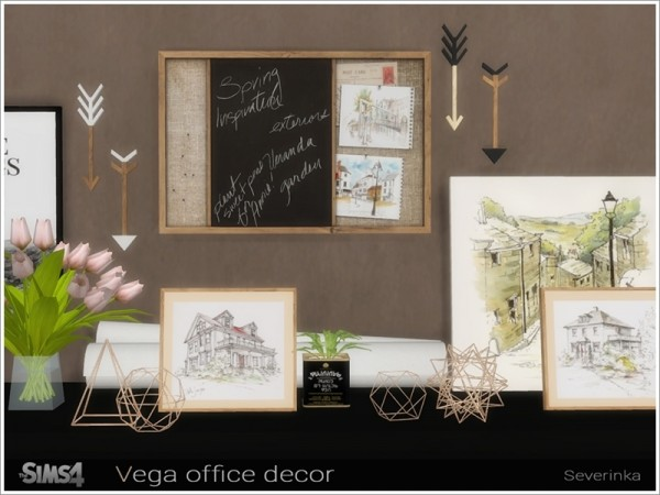 Best The Sims Resource Vega Office Decor By Severinka • Sims 4 This Month