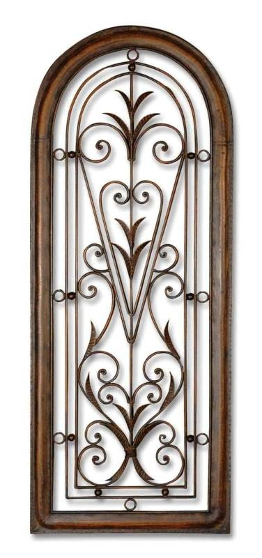 Best 50 Tall Tuscan Wrought Iron Wall Grill Arch Shaped This Month