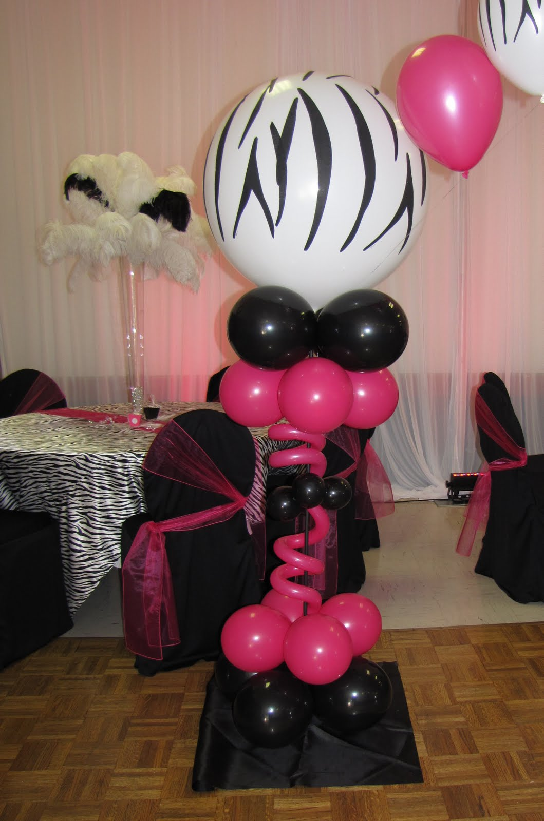 Best Party People Event Decorating Company Zebra Sweet 16 This Month