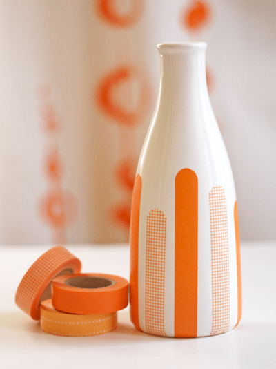Best Diy Decorating With Masking Tape How About Orange This Month
