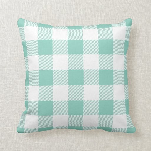 Best Aqua Preppy Buffalo Check Plaid Throw Pillow Zazzle This Month