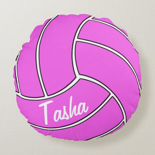 Best Customizable Pink Volleyball Round Throw Pillow Zazzle This Month
