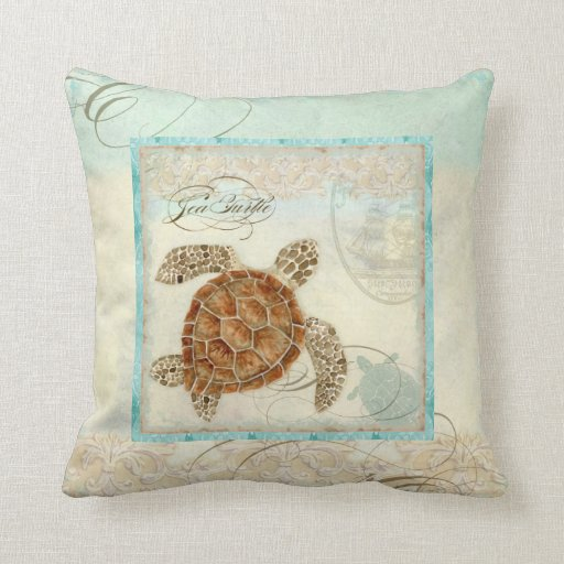 Best Sea Turtle Coastal Beach Home Decor Pillow Zazzle This Month