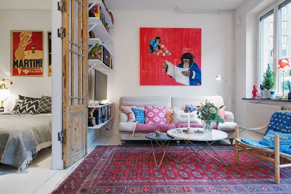 Best Small Swedish Apartment As An Example Of Scandinavian Style This Month