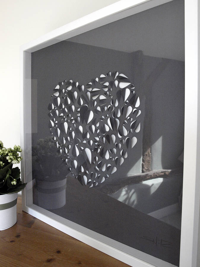 Best Big Love Heart Hand Crafted Wall Art By Illustries This Month