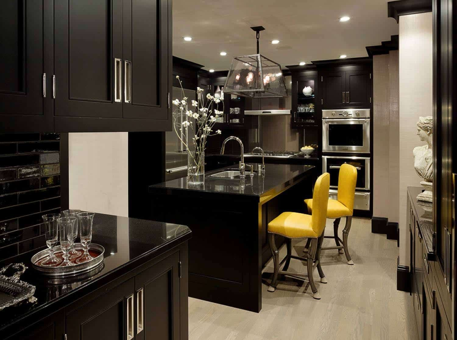 Best 43 Dramatic Black Kitchens That Make A Bold Statement This Month