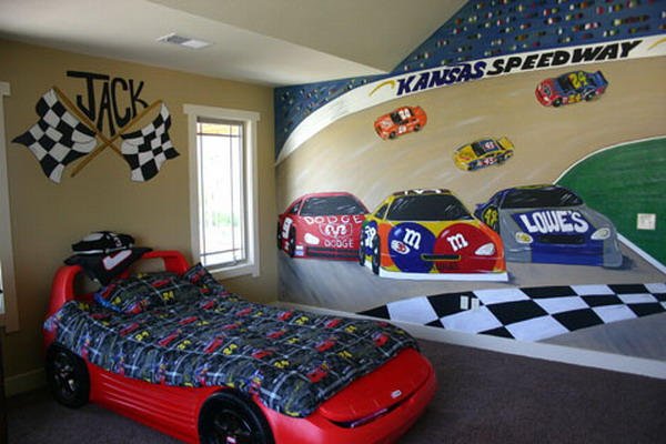 Best Race Car Bedroom Boy Decorating Idea This Month
