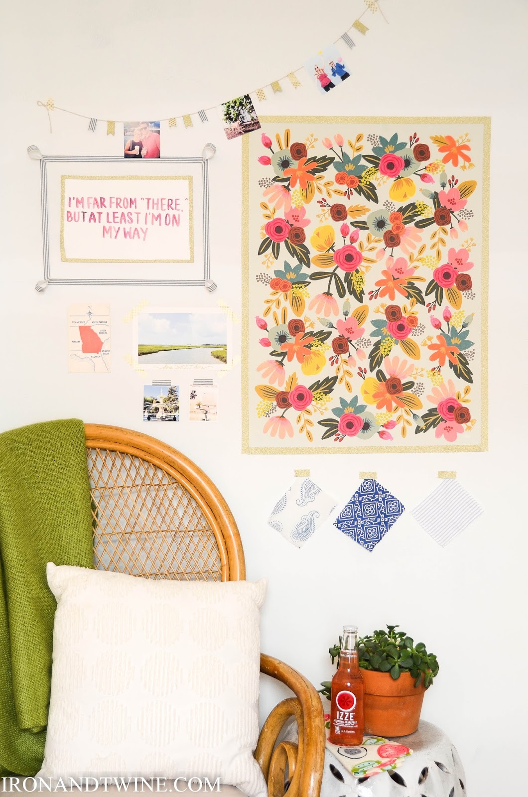 Best Iron Twine Washi Tape Gallery Wall Dorm Room Decor This Month
