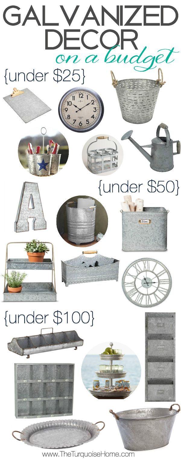 Best Galvanized Decor On A Budget Style Trend This Month