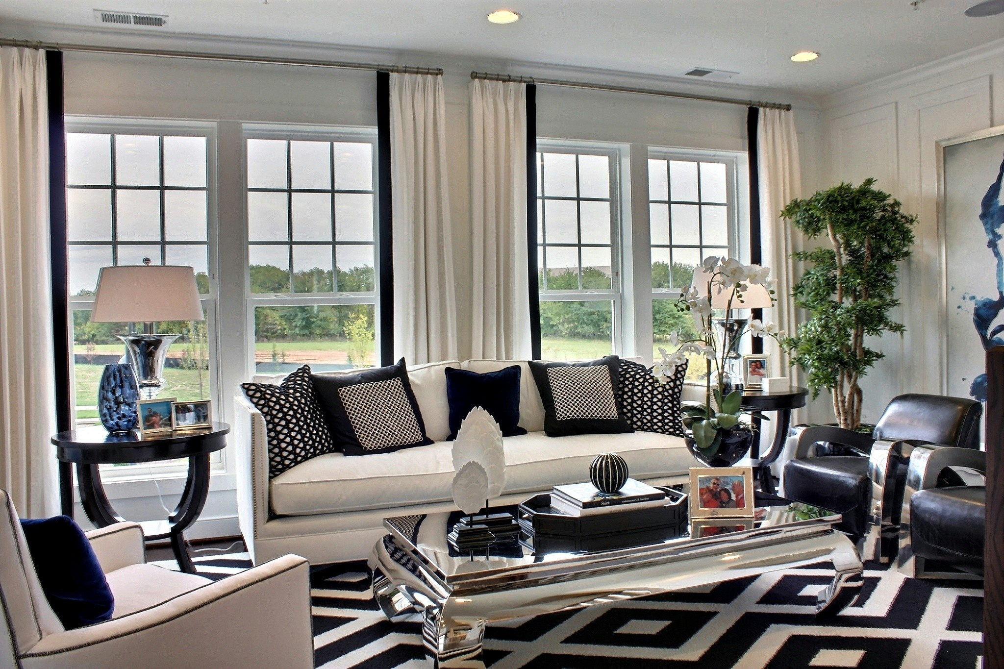 Best Of Black And White Modern Living Rooms This Month
