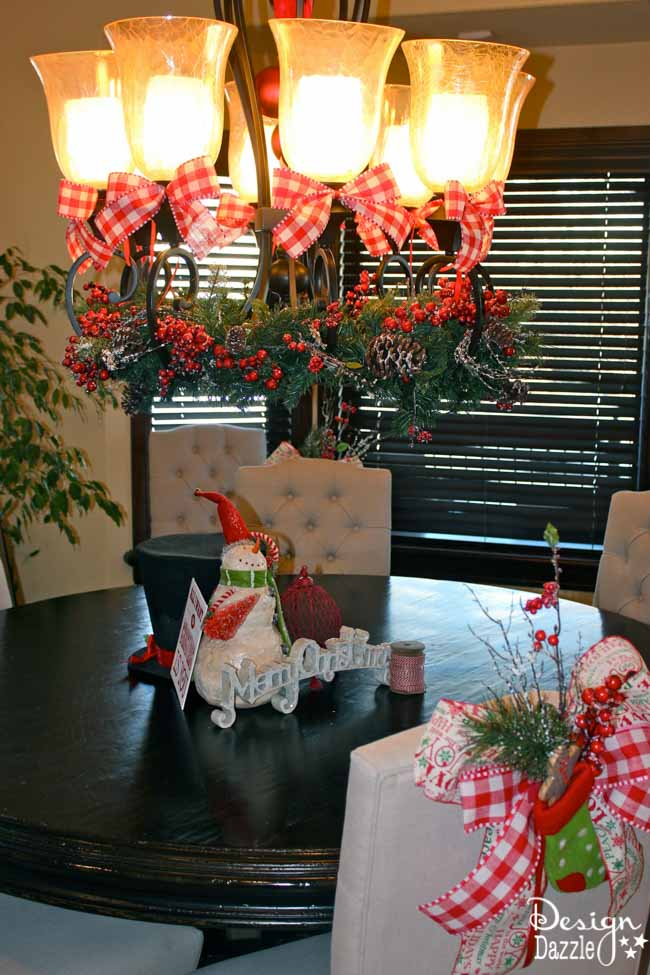 Best Christmas Dining Room Decor How To Tie A Simple Bow This Month