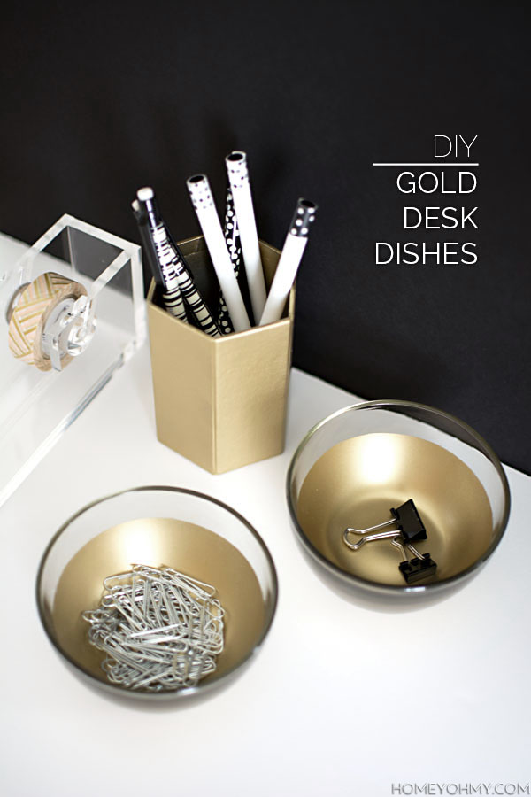 Best Diy Gold Desk Dishes H*M*Y Oh My This Month